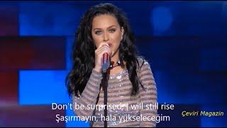 KATY PERRY - RİSE TÜRKÇE ALT YAZILI + lyrics + Performance