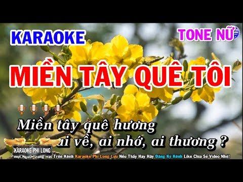 Karaoke Miền Tây Quê Tôi   Nhạc Sống Beat Nữ Dễ Hát   Karaoke Phi Long
