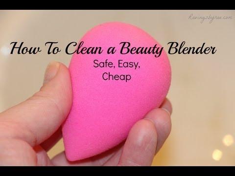 How I Clean My Beauty Blender Sponge