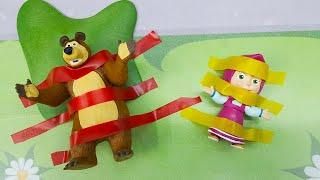 Мультики с игрушками Свинка Пеппа Маша Щенячий Патруль - Кто кого приклеит! Мультфильмы про машинки.