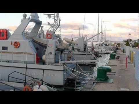 Guardia di Finanza patrol and speed boats in Palermo