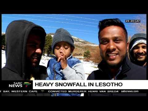 Heavy snow over Lesotho