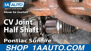 Video How To Install Replace Cavalier Sunfire CV Joint Half Shaft How To 95-05 1AAuto.com download MP3, 3GP, MP4, WEBM, AVI, FLV Juni 2018