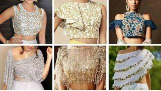 Latest crop top lehenga blouse design Ideas// Indo western blouse designs // Stylish Croptop blouse