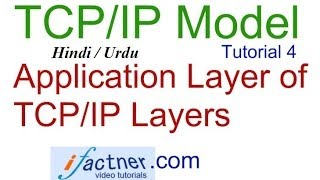 Application layer in TCP/IP model Layers in Hindi Urdu, TCP IP suite tutorial lecture 4