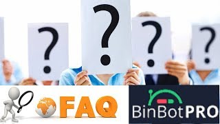 Binbot Pro Frequently Asked Questions (FAQ) - Don't Do These Mistakes! Bin Bot Pro
