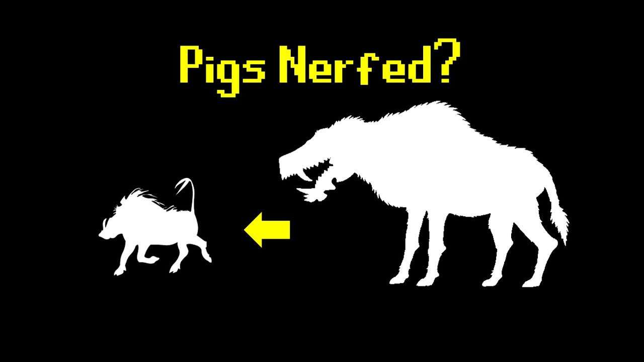 Pigs Used To Be Overpowered