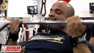 Victor Martinez - Back Training at Star Fitness