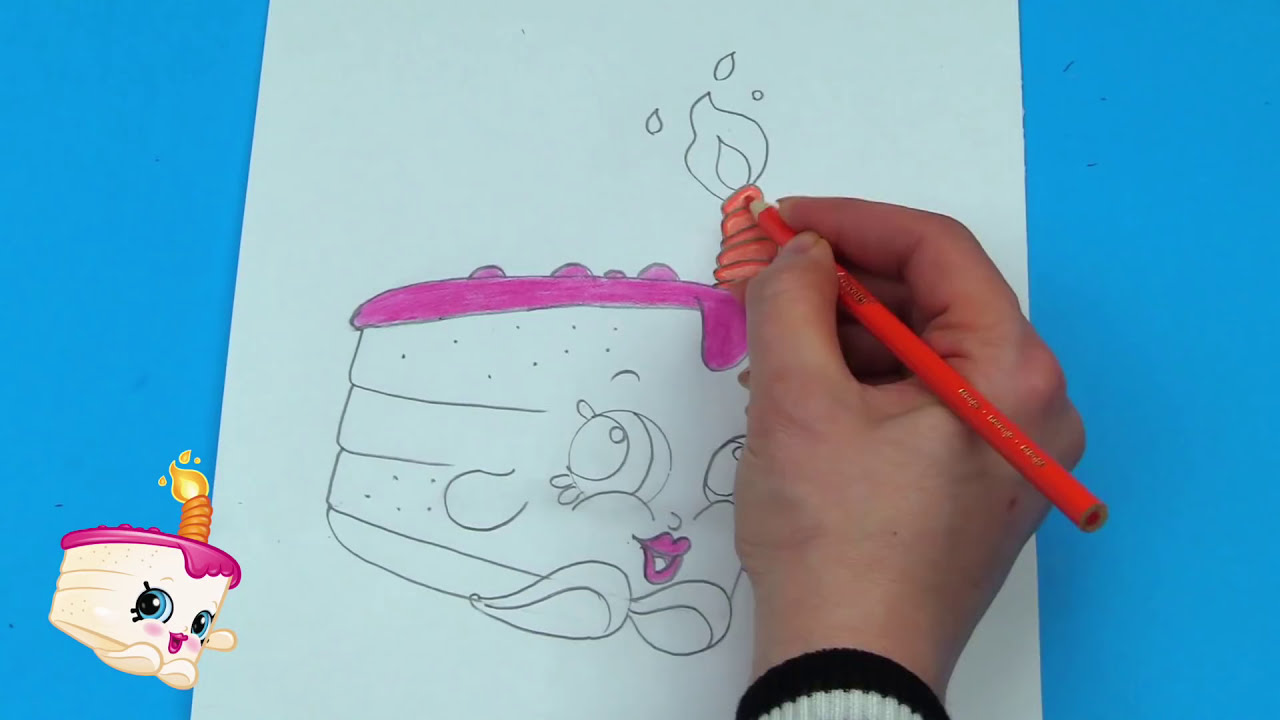 Shopkins Coloring Pages Gracie Birthday Cake