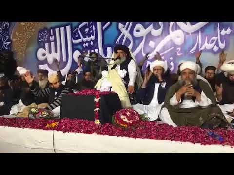 Allama Khadim Hussain Rizvi new bayan in Lahore Data Darbar   Tajdare Khatme Nabuwat Confrence