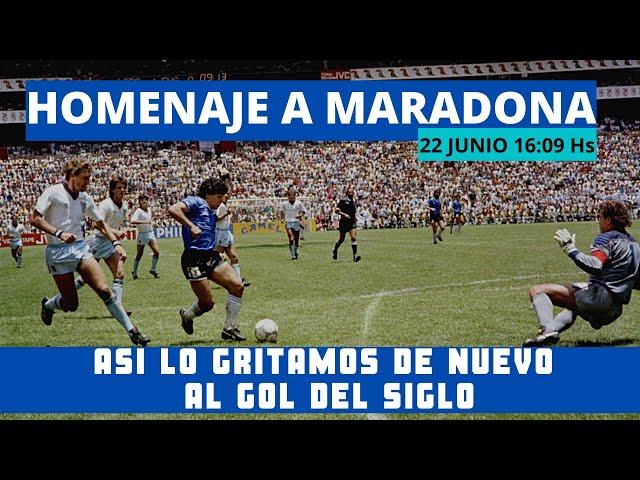 Lo gritamos de nuevo 22  junio 16 09 hs El gol del siglo,  Diego Maradona a los ingleses, futbol AFA