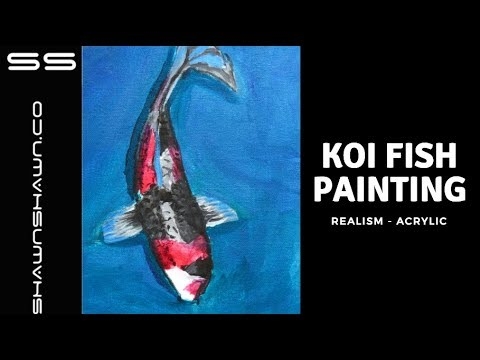 Koi Fish Painting Demonstration In Acrylic