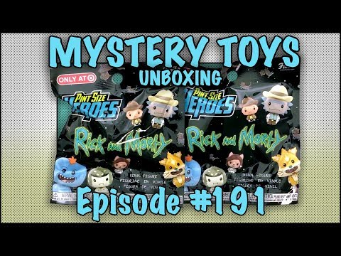 MYSTERY TOYS! Episode #191 - Unboxing Rick And Morty #Funko Pint Size Heroes Target Exclusives