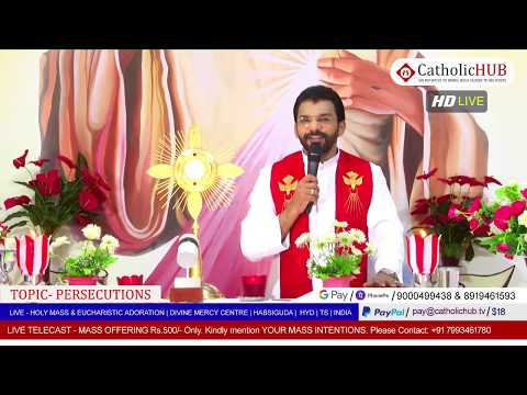 HOLY MASS | PERSECUTIONS | REV.FR.BENNY SVD | DMC | HABSIGUDA | HYD | IND 29-04-2020
