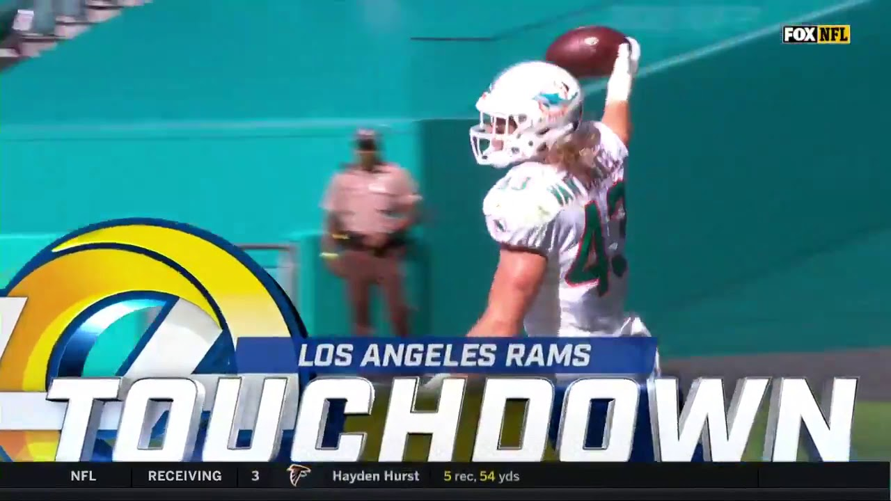 Jared Goff Gets Demolished Fumbles Dolphins Return 73 Yards To The House Youtube