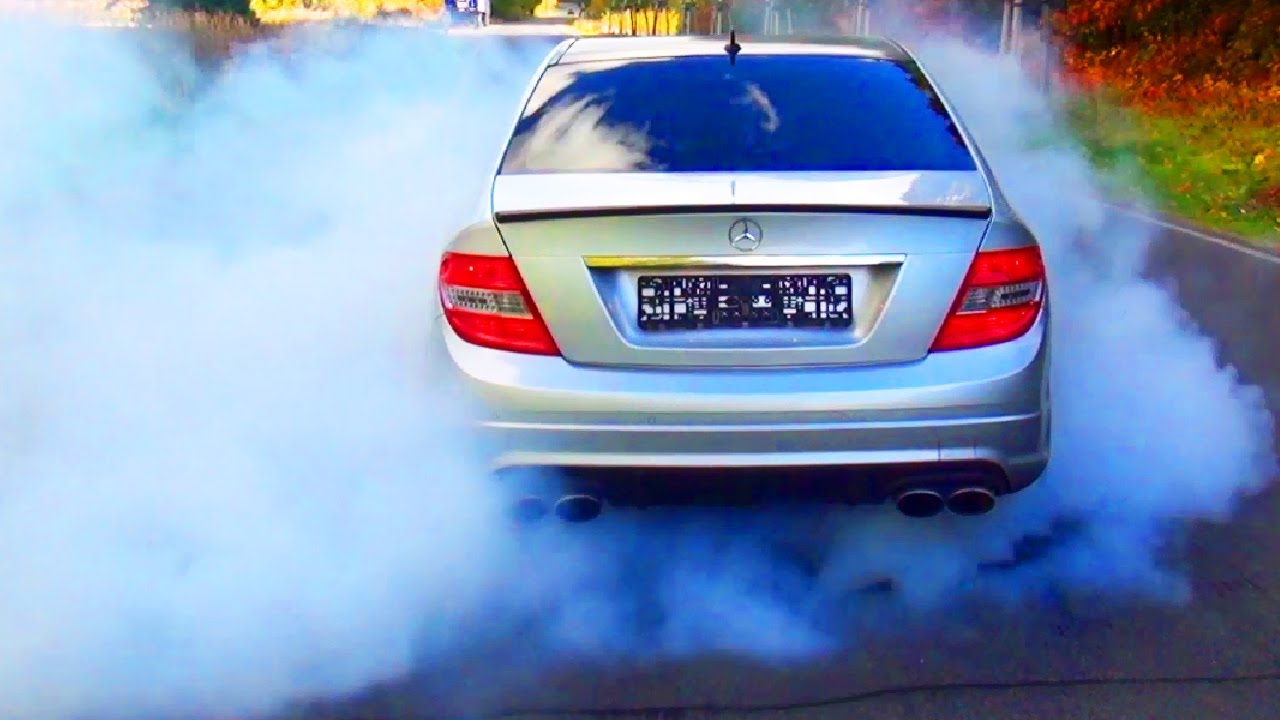 mercedes c63 amg burnout acceleration in esp sport esp off mode v8 exhaust sound youtube