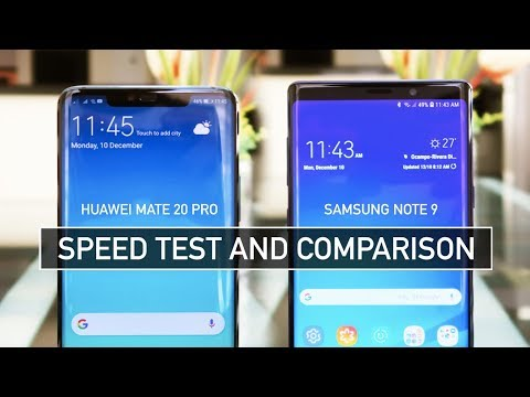 Huawei Mate 20 Pro vs Samsung Note 9 SPEED TEST | Zeibiz