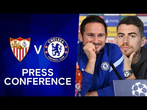 Frank Lampard & Jorginho Live Press Conference: Sevilla v Chelsea   Champions League