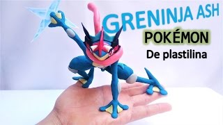 Como hacer a GRENINJA ASH con plastilina. How to make Pokemon GRENINJA ASH in clay