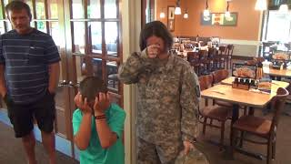 Brother  Sister Open Big Present to Find Dad a U S  Airman Home Early from Deployment