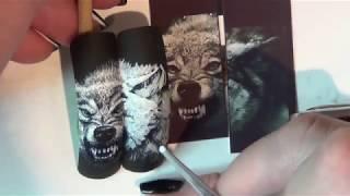 РИСУЕМ ВОЛКА НА НОГТЯХ/ЖИВОТНЫЕ НА НОГТЯХ/ЖИВОТНЫЕ/ДИЗАЙН НОГТЕЙ/Nail art painting