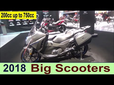 The 2018 Mega scooters (200cc up to 750cc)