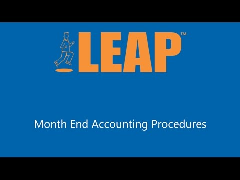 Month End Accounting Procedures