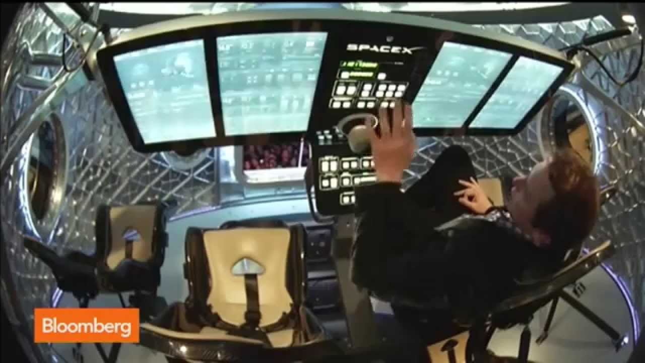 Inside the New SpaceX Dragon V2 Spacecraft - YouTube