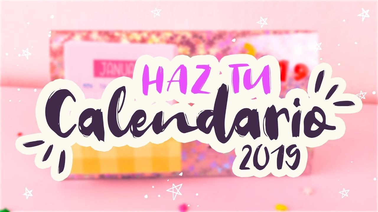 Calendario Sky.Diy Your Own Calendar 2019 Super Easy Kawaii In Minutes Getorganized Cookies In The Sky