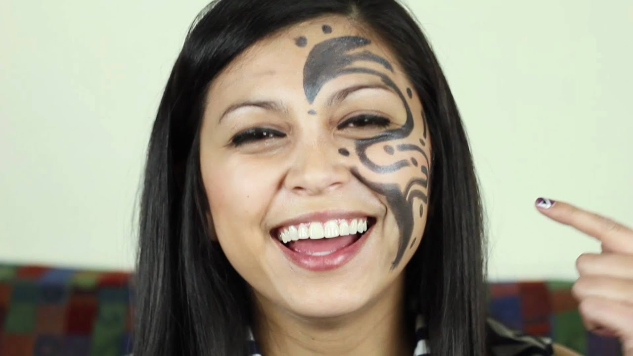 Facial s tattoo woman tits