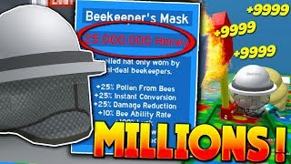 (Instant Honey!) $25,000,000 BEEKEEPER'S MASK!! - Roblox Bee Swarm Simulator