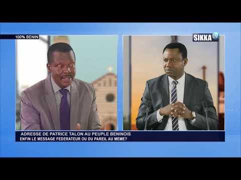 100% BENIN DU 21 05 19 / ADRESSE DE PATRICE TALON AU PEUPLE BENINOIS
