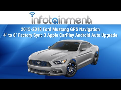 """2015-2018 Ford Mustang GPS Navigation 4"""" to 8"""" Factory Sync 3 Apple CarPlay Android Auto Upgrade"""