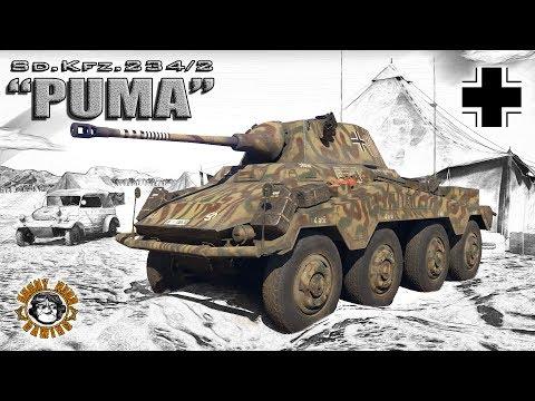 """War Thunder: Sd.Kfz.234/2 """"Puma"""", German, Tier-1, Light Tank"""