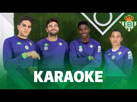 KARAOKE | Bartra, Guardado, Barragán y Junior se enfrentan en este RETO | Real Betis Balompié
