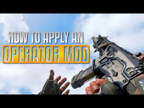 Black Ops 4 | HOW TO APPLY OPERATOR MODS!!! [COD BO4]
