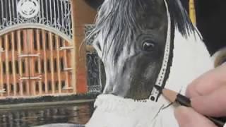 Pastel Painting Demonstration - Arabian horse by Roberta