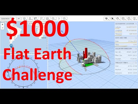 $1000 Flat Earth Challenge: Southern Hemisphere: Sun-path in the Sky thumbnail