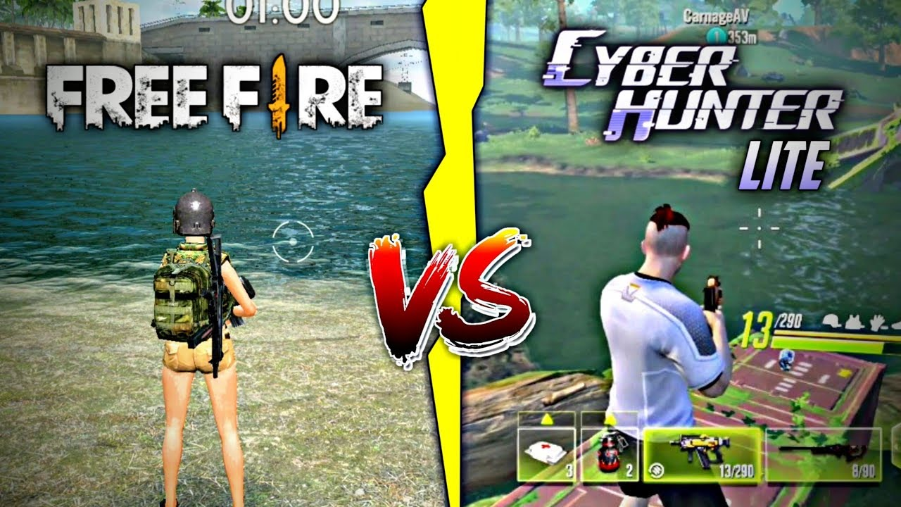 Free Fire Vs Cyber Hunter Lite Which one is best | Game Comparison