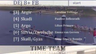 Damen Raceroei Regatta 2015 zaterdag deel 3
