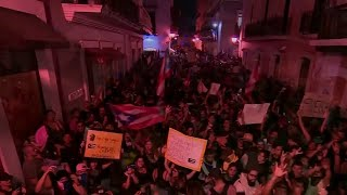 Protests against governor of Puerto Rico turn violent