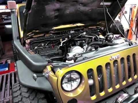 Jeep Jk Ripp Supercharger Snorkel Test 2