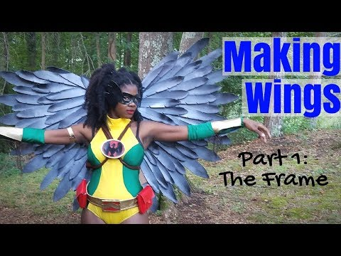Making Cosplay Wings Part 1- The Frame