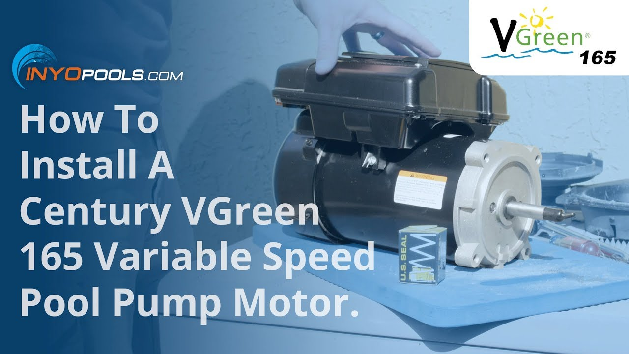 How To: Install A VGreen 165 Variable Speed Pool Pump Motor - YouTube