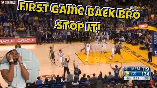Wow Steph, TEN 3 POINTERS ON YOUR FIRST NIGHT BACK? Warriors vs Grizzlies Full Game Highlights