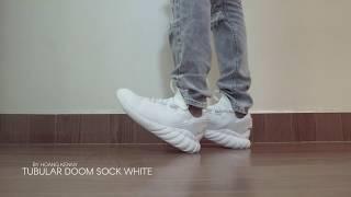 Adidas Tubular doom sock white - on