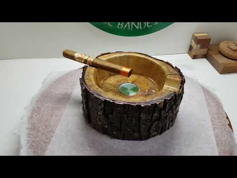 Turning A Natural Edge Cigar Ashtray From Spalting Log