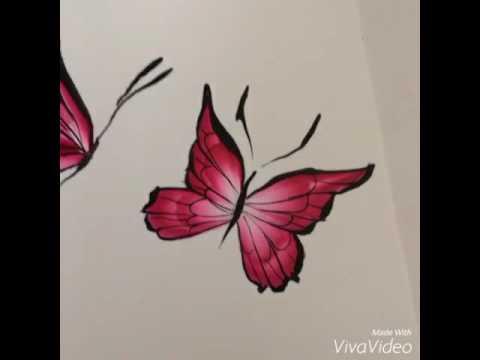 Quick one stroke butterflies