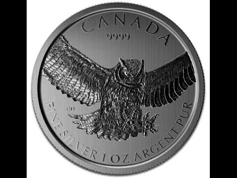 Great Horned Owl  1 oz Silver coin,  Review &  UK Price, Sept 2015