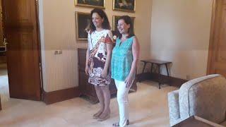 La presidenta del Govern Francina Armengol recibe a Catalina Cladera en el Consolat de Mar